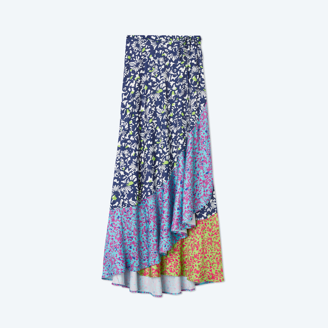 The Beach to Brunch Wrap Skirt - Multi Brushstroke