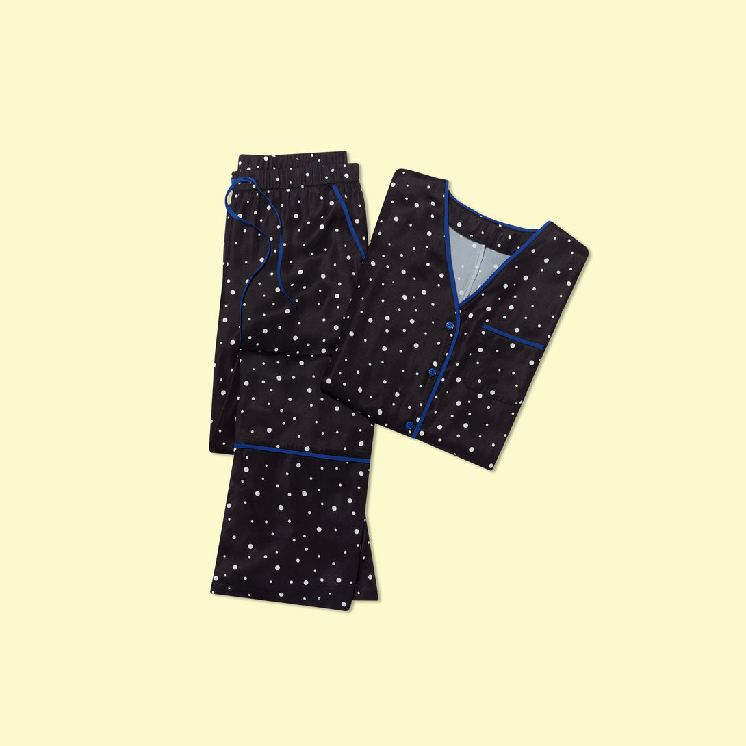 The Cloud 9 Silky PJ Set Celestial Dot