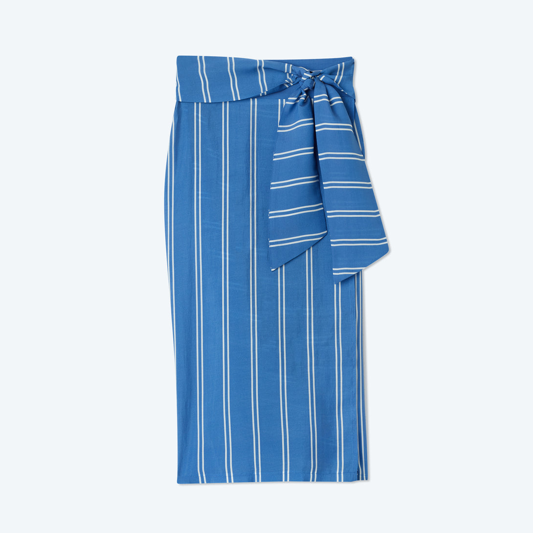 The Easy Breezy Sarong - French Stripe in Indigo