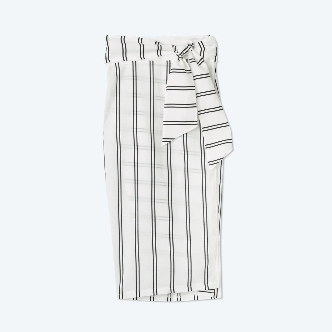 The Easy Breezy Sarong - French Stripe in White Sand