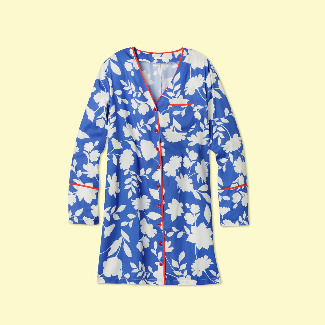 The Cloud 9 Silky Boyfriend Sleep Shirt - Graphic Floral