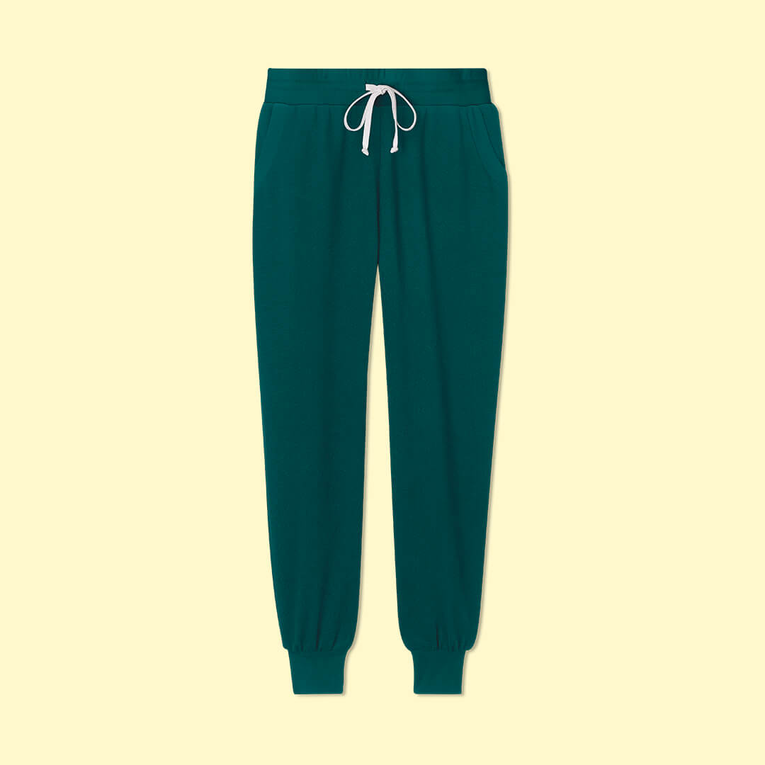 The Softest French Terry Jogger - Seaweed & Wisteria