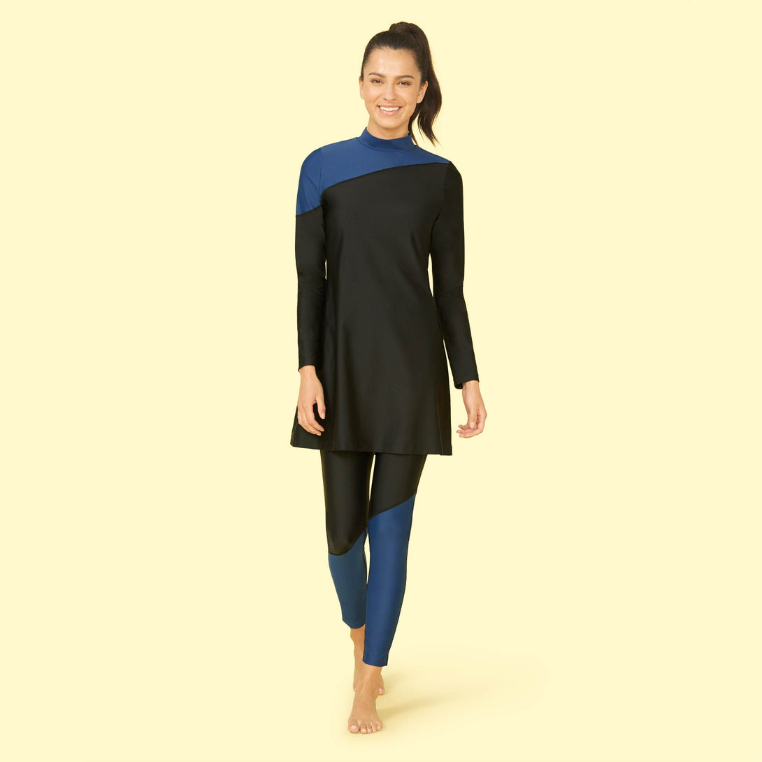 The Sun Shield Swim Tunic Atlantic and Sea Urchin Dakota