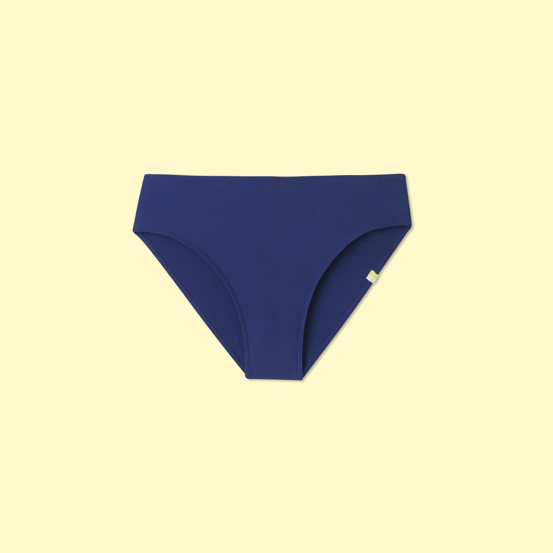 The High Leg Mid Rise Bikini Bottom - Atlantic