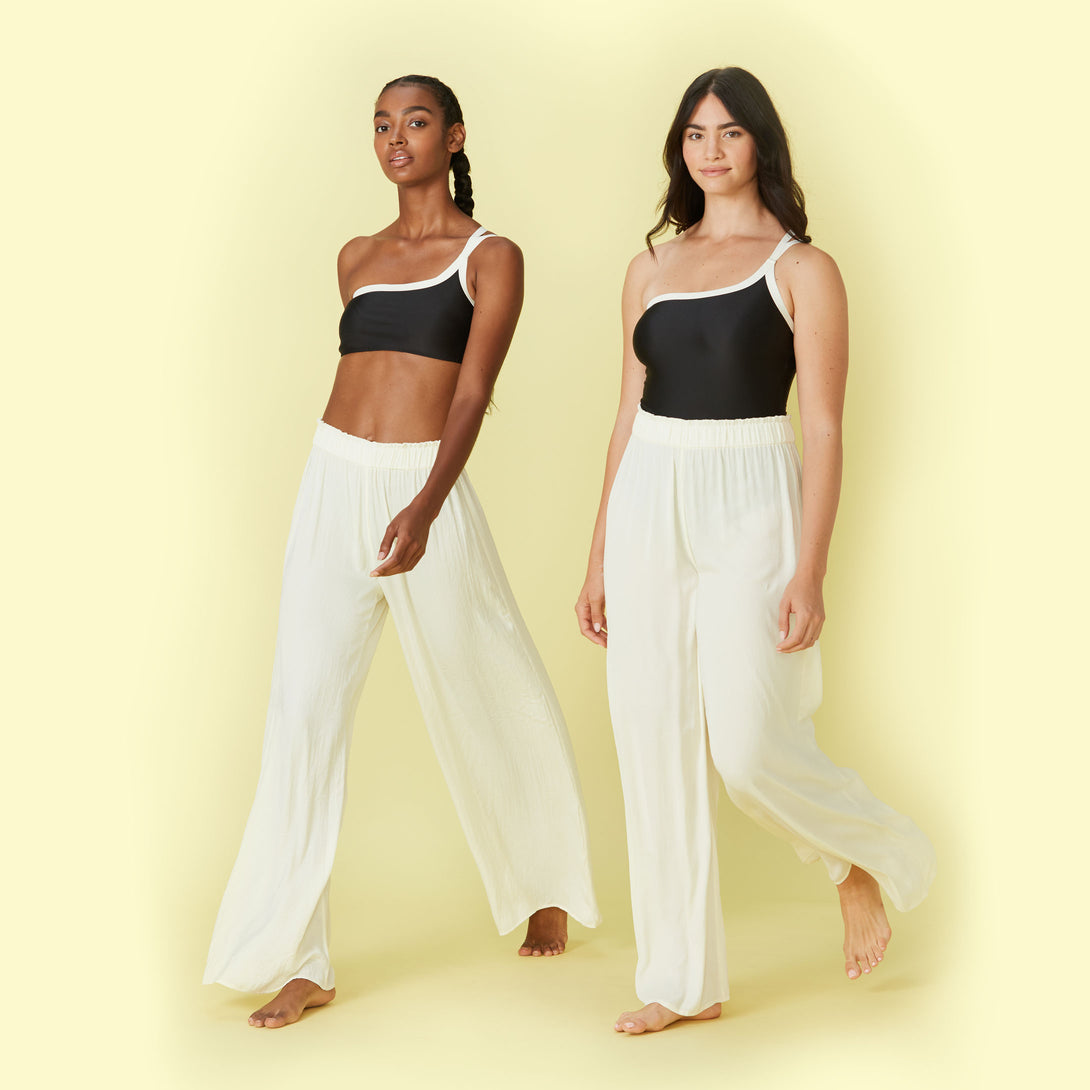 The Perfect Palazzo Pant - White Sand