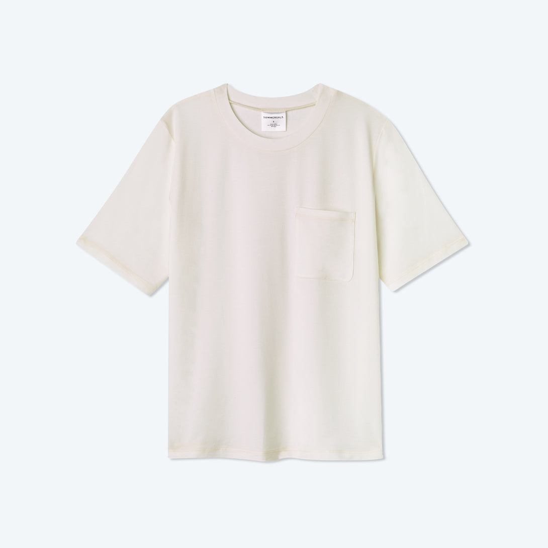 The Softest Tencel Short Sleeve Pocket T-Shirt - White Sand