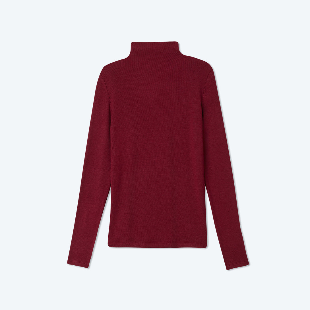 The Softest Ribbed Long Sleeve Mock Neck - Pinot