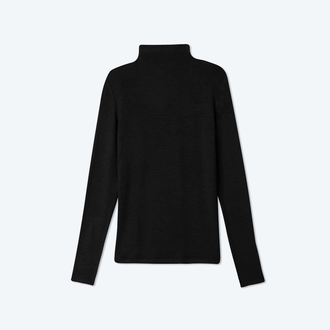 The Softest Ribbed Long Sleeve Mock Neck - Sea Urchin