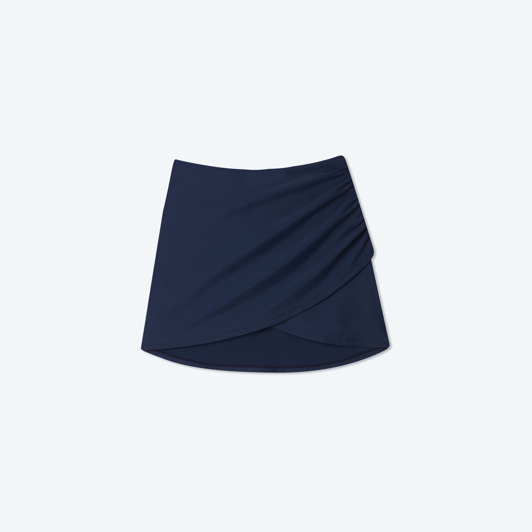 The Ruched Swim Skirt - Deep Sea