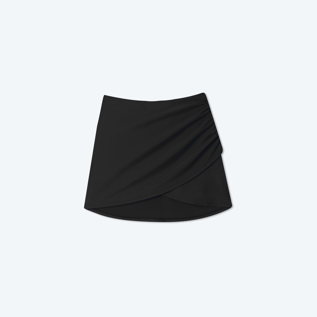 The Ruched Swim Skirt - Sea Urchin