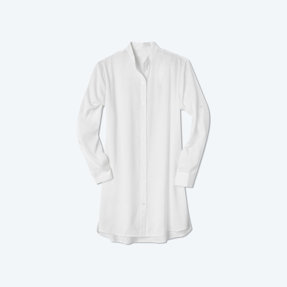 The Short Effortless Shirtdress Cover-Up - White Sand