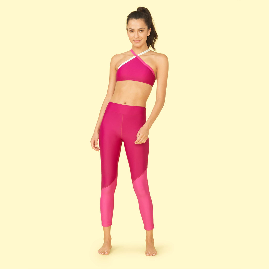 The Sun Shield Legging Orchid and Hibiscus Dakota