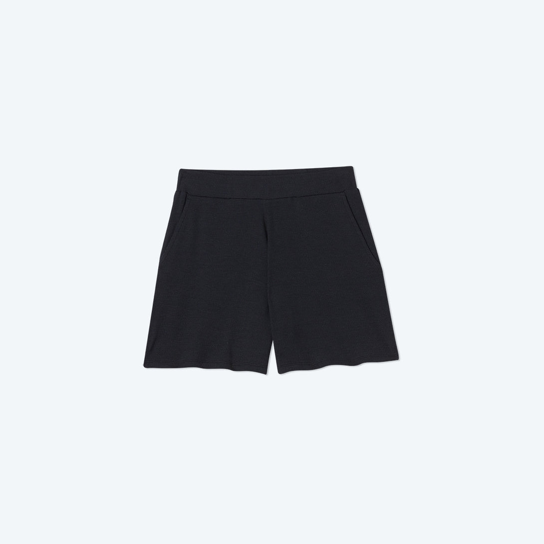 The Softest Ribbed Lounge Shorts - Sea Urchin