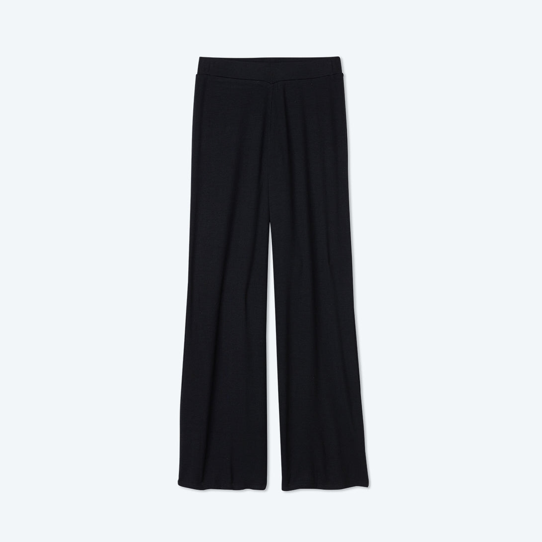 The Softest Ribbed Wide Leg Lounge Pant - Sea Urchin