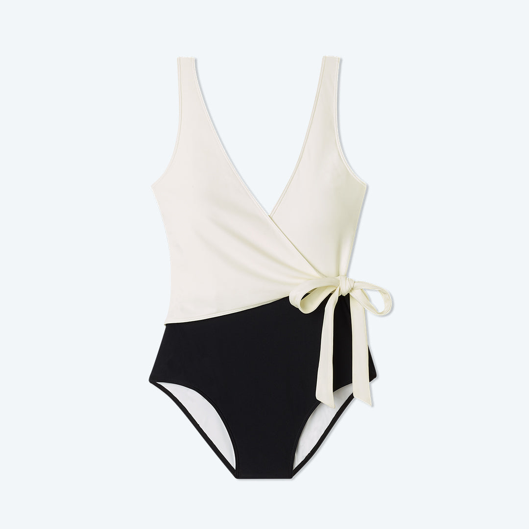 The Perfect Wrap One-Piece - Sea Urchin & White Sand