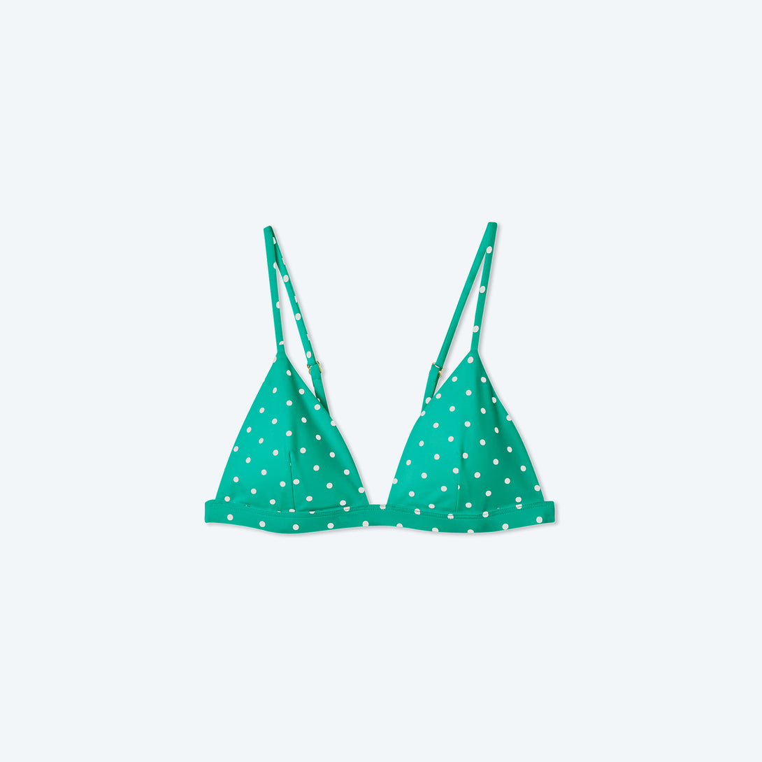 The Triangle Bikini Top - Seaglass Dot