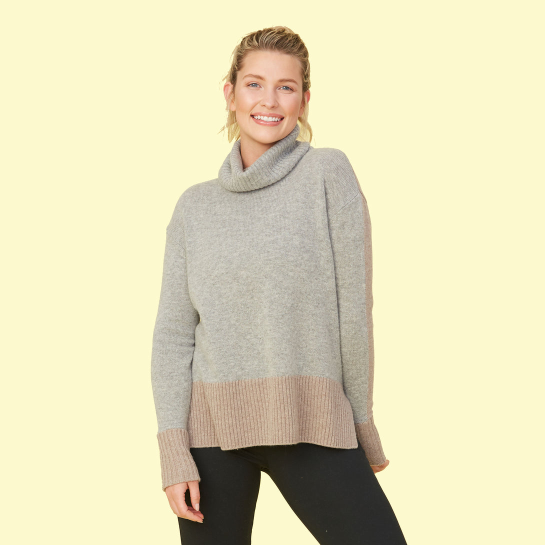 The Coziest Cashmere Turtleneck - Camel & Wolf