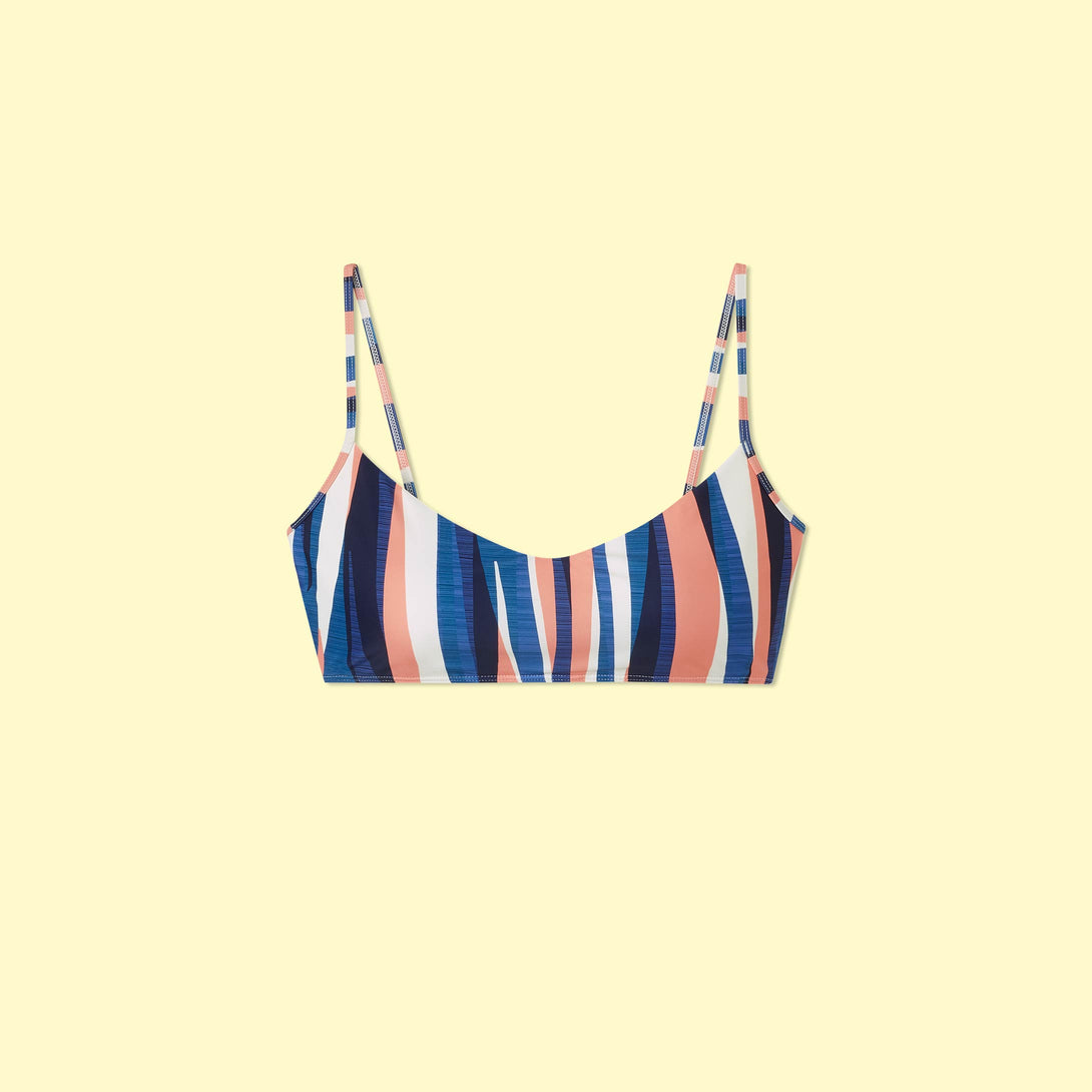 The Voyager Bikini Top - Abstract Stripe