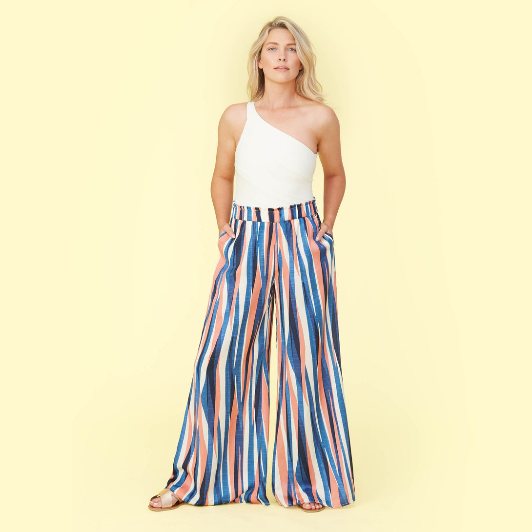 The Perfect Palazzo Pant - Abstract Stripe