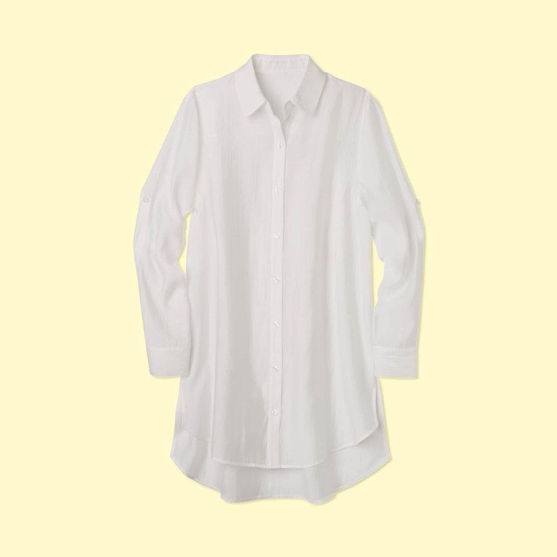 The All Buttoned Up Cover-Up White Sand
