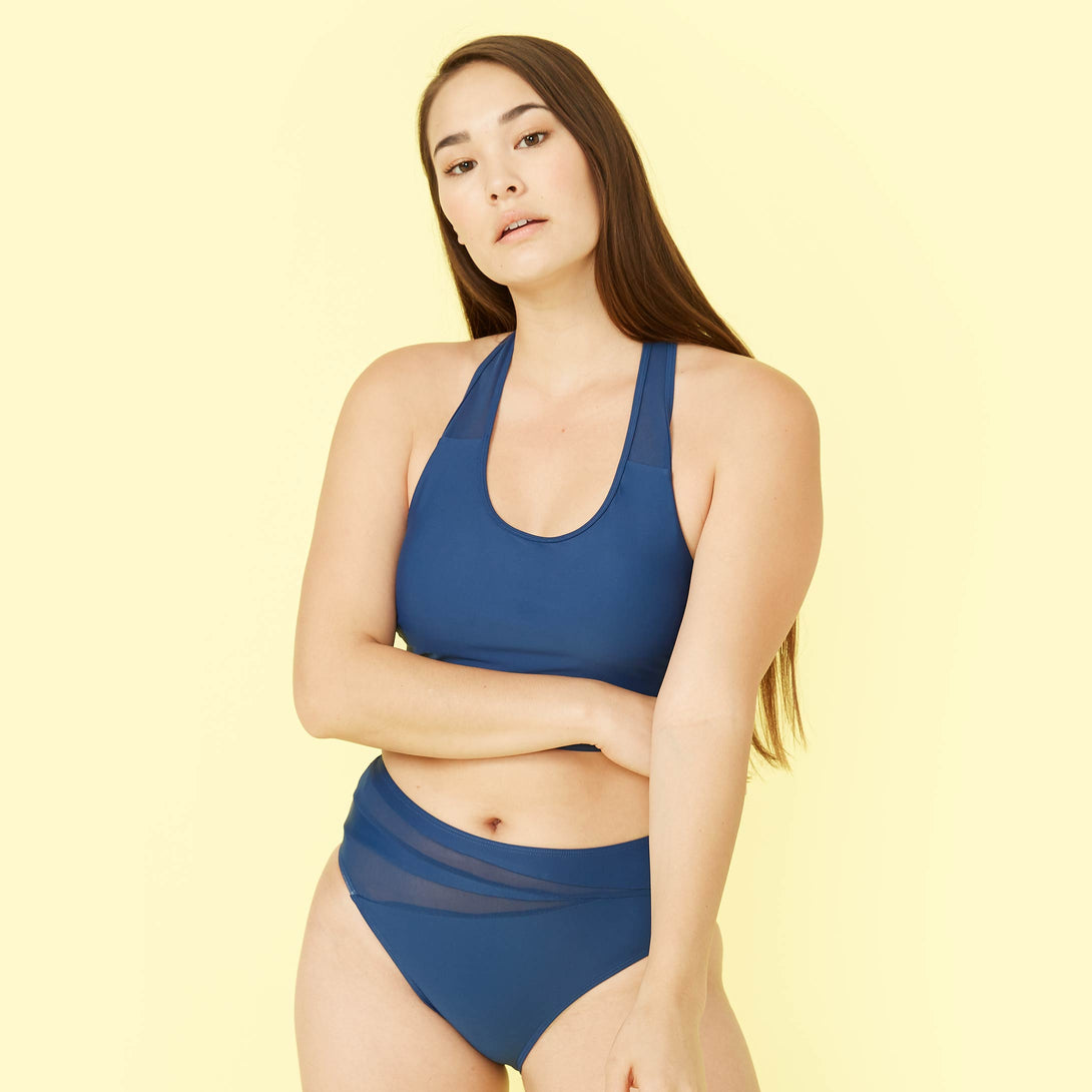 The Mesh Diver Bikini Top Atlantic Peyton