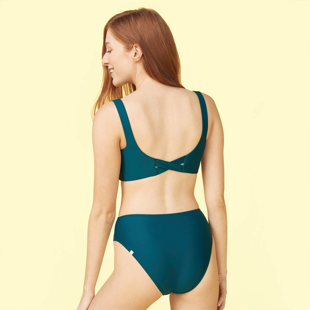 The High Leg Mid Rise Bikini Bottom Seaweed Madeline