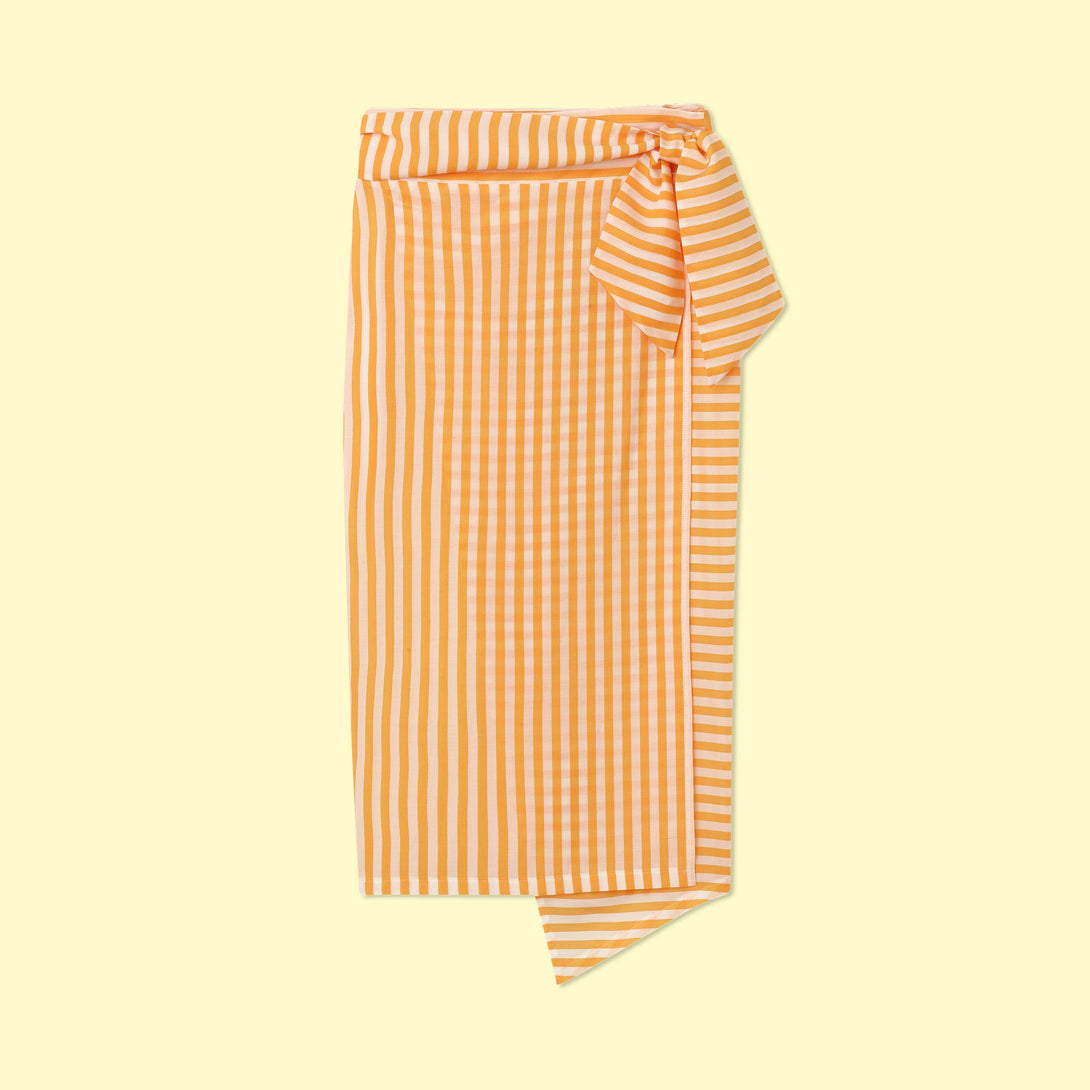 The Easy Breezy Sarong Mango and White Sand