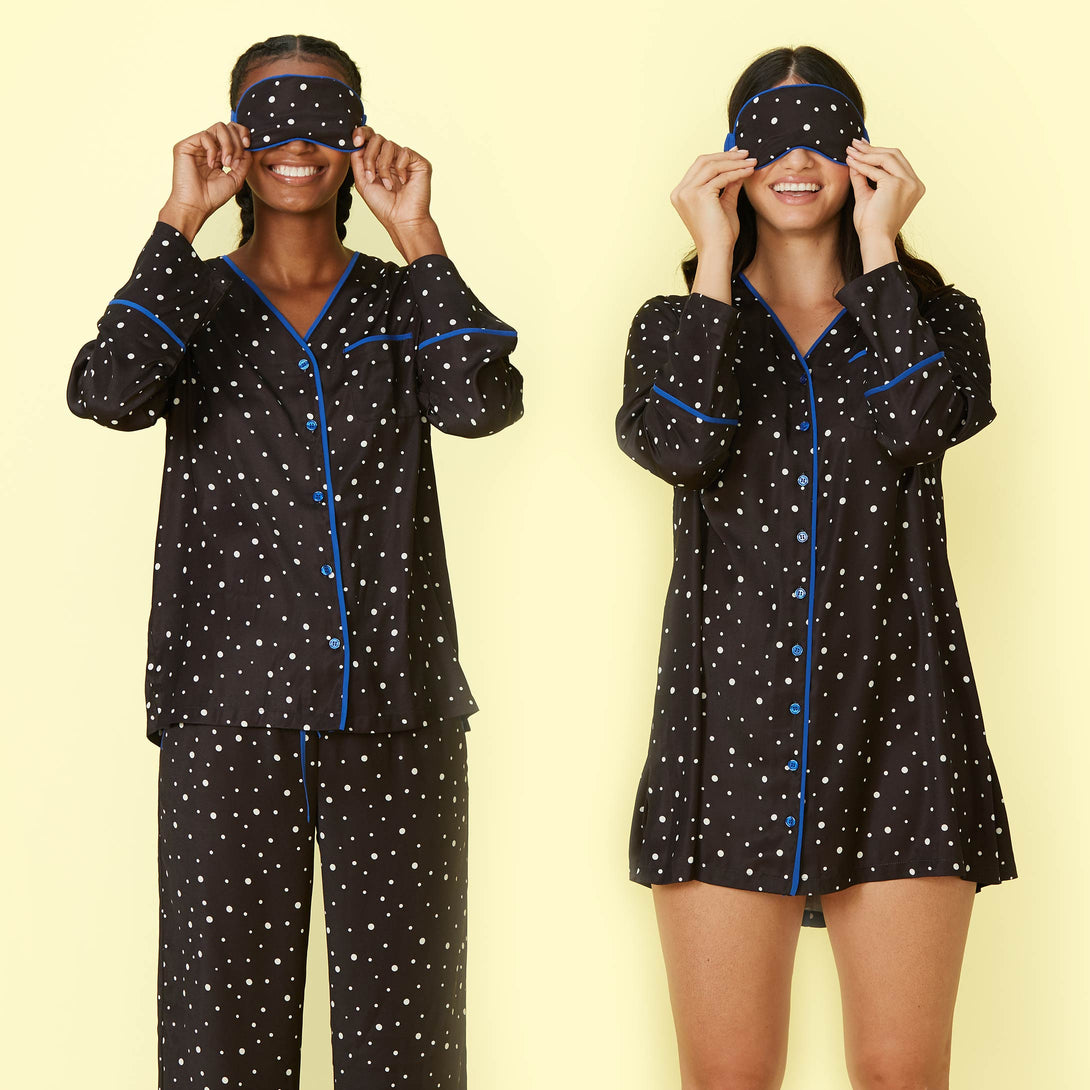 The Cloud 9 Silky Eye Mask - Celestial Dot