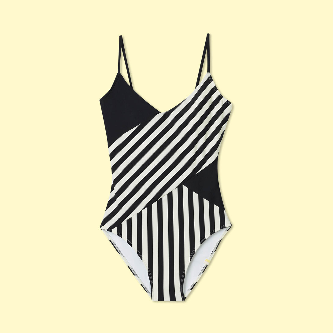 The Marina - Mixed Stripe in Sea Urchin & White Sand
