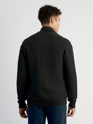 ons men's garage sweater l/s knit charcoal
