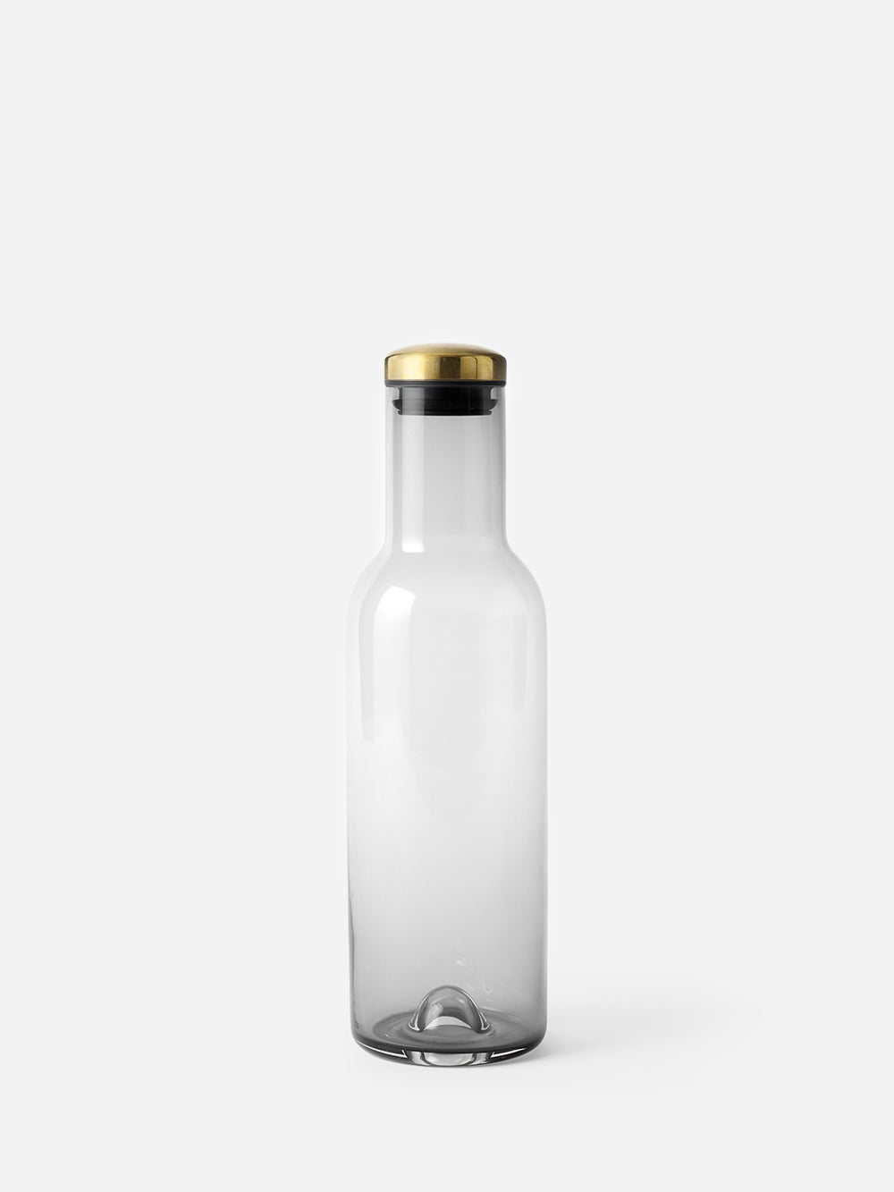 SMOKE BRASS LID bottle carafe 34 oz menu