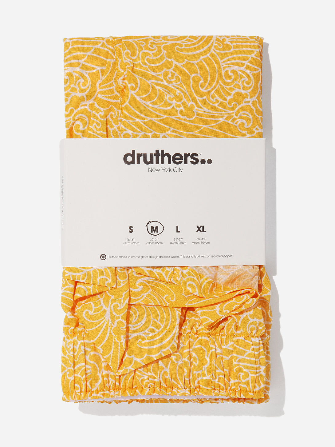 ons mens clothing druthers boxers in YELLOW