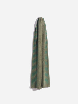 WOOL-CASHMERE SCARF ARMY green