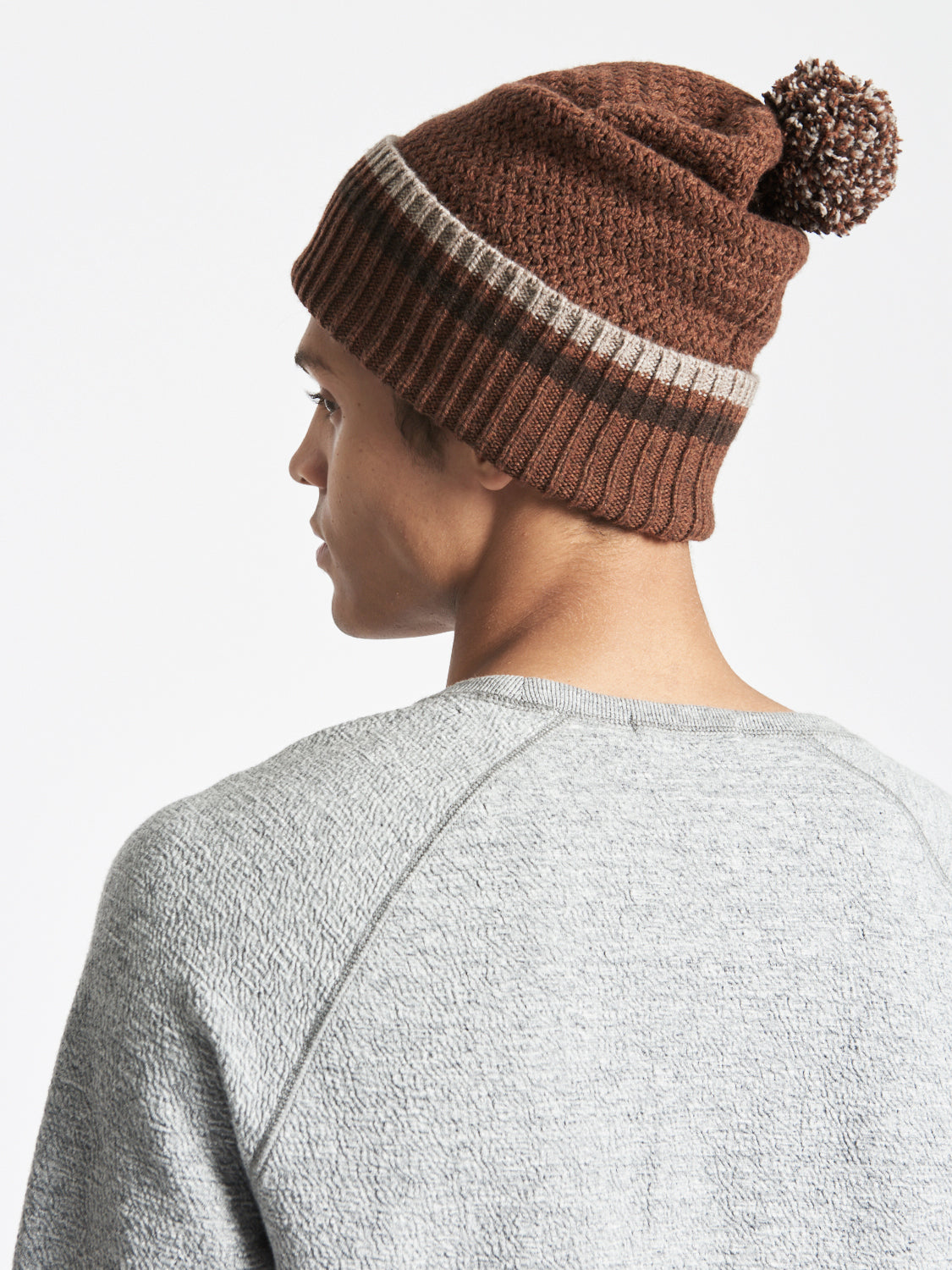 WOOL-CASHMERE BEANIE SADDLE BROWN