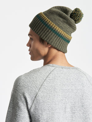 WOOL-CASHMERE BEANIE ARMY GREEN