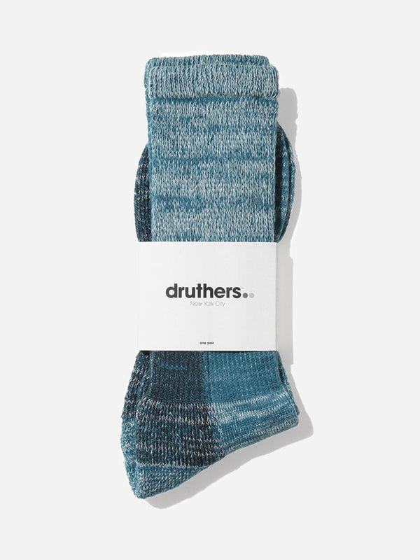 MARINE TEAL Druthers Defender organic cotton socks