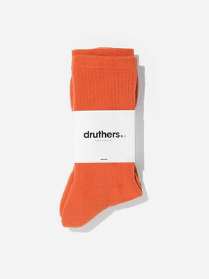 ORANGE druthers socks for ons clothing