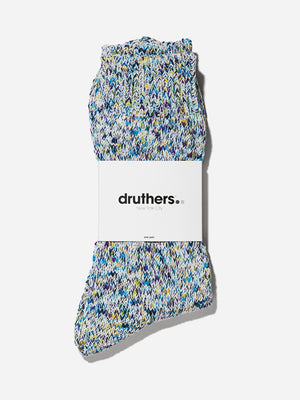 WHITE/YELLOW/BLUE Recycled Tie Dye Socks Druthers
