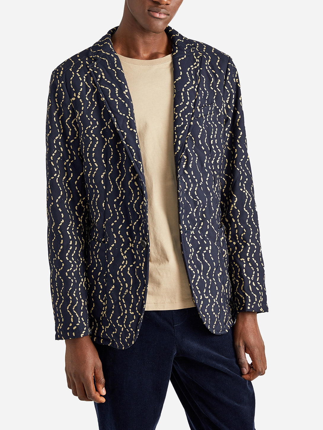ISSA QUILTED JACKET NAVY WAVE - ONS Clothing