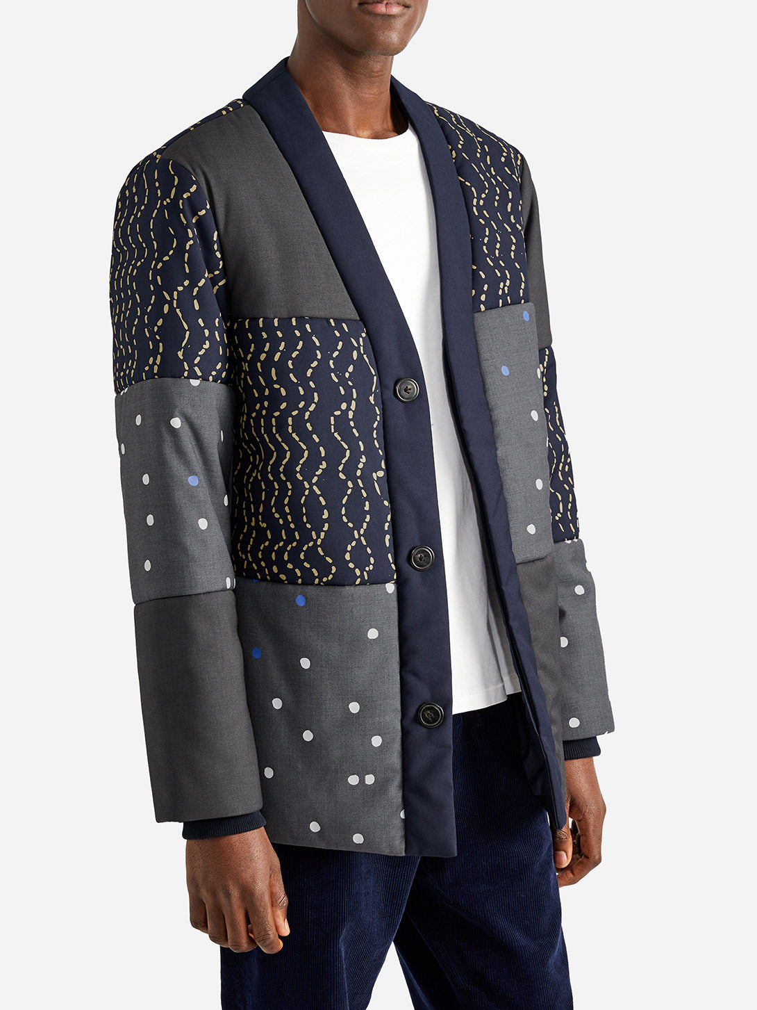 ISSA BASEBALL PUFFER GREY DOT - ONS Clothing
