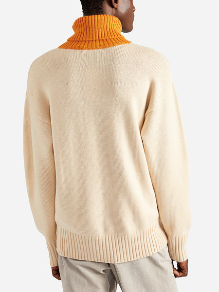 ISSA CHUNKY TURTLENECK ORANGE - ONS Clothing