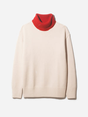 ISSA CHUNKY TURTLENECK RED - ONS Clothing