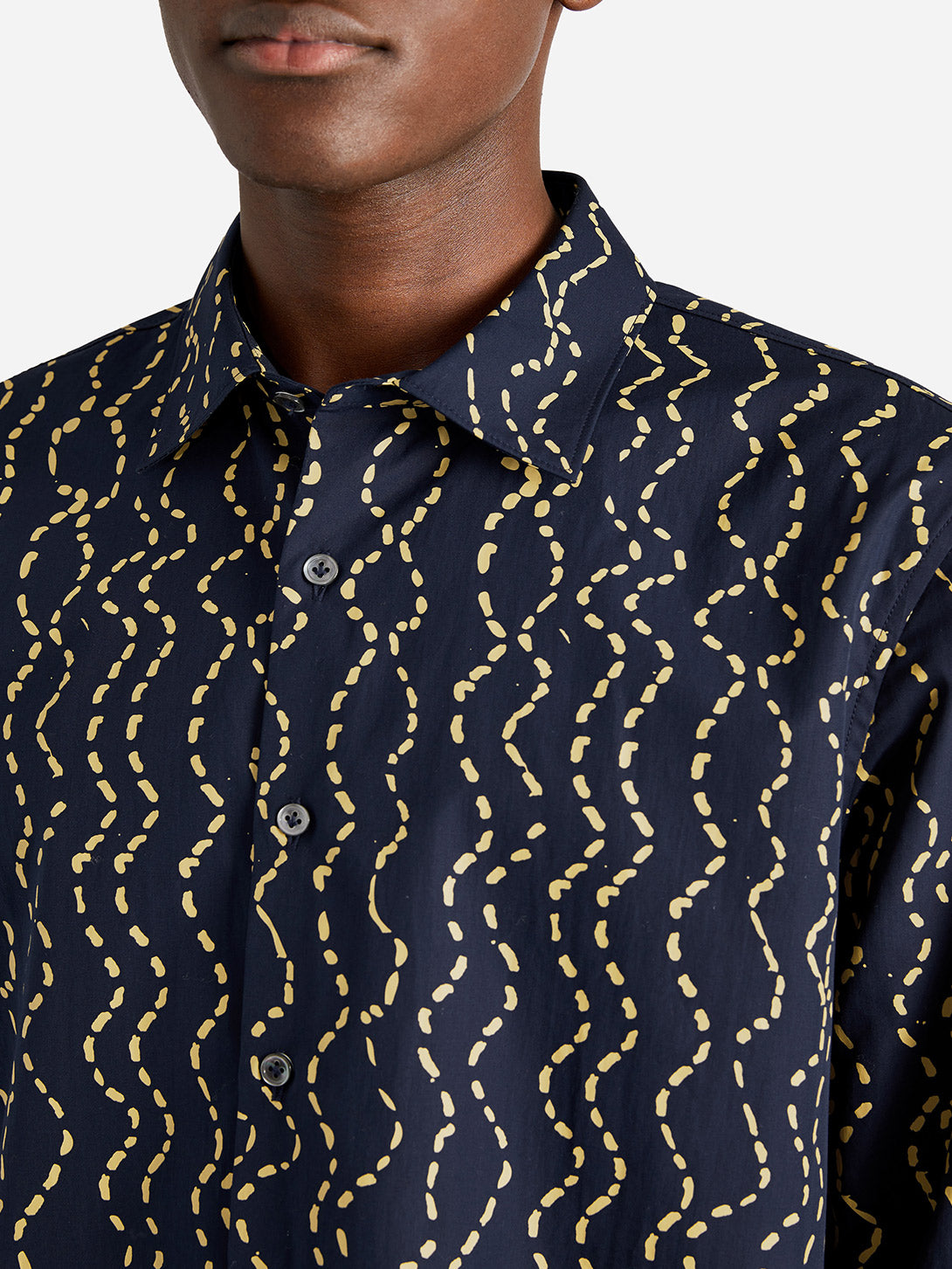 ISSA DRESS SHIRT NAVY WAVE - ONS Clothing