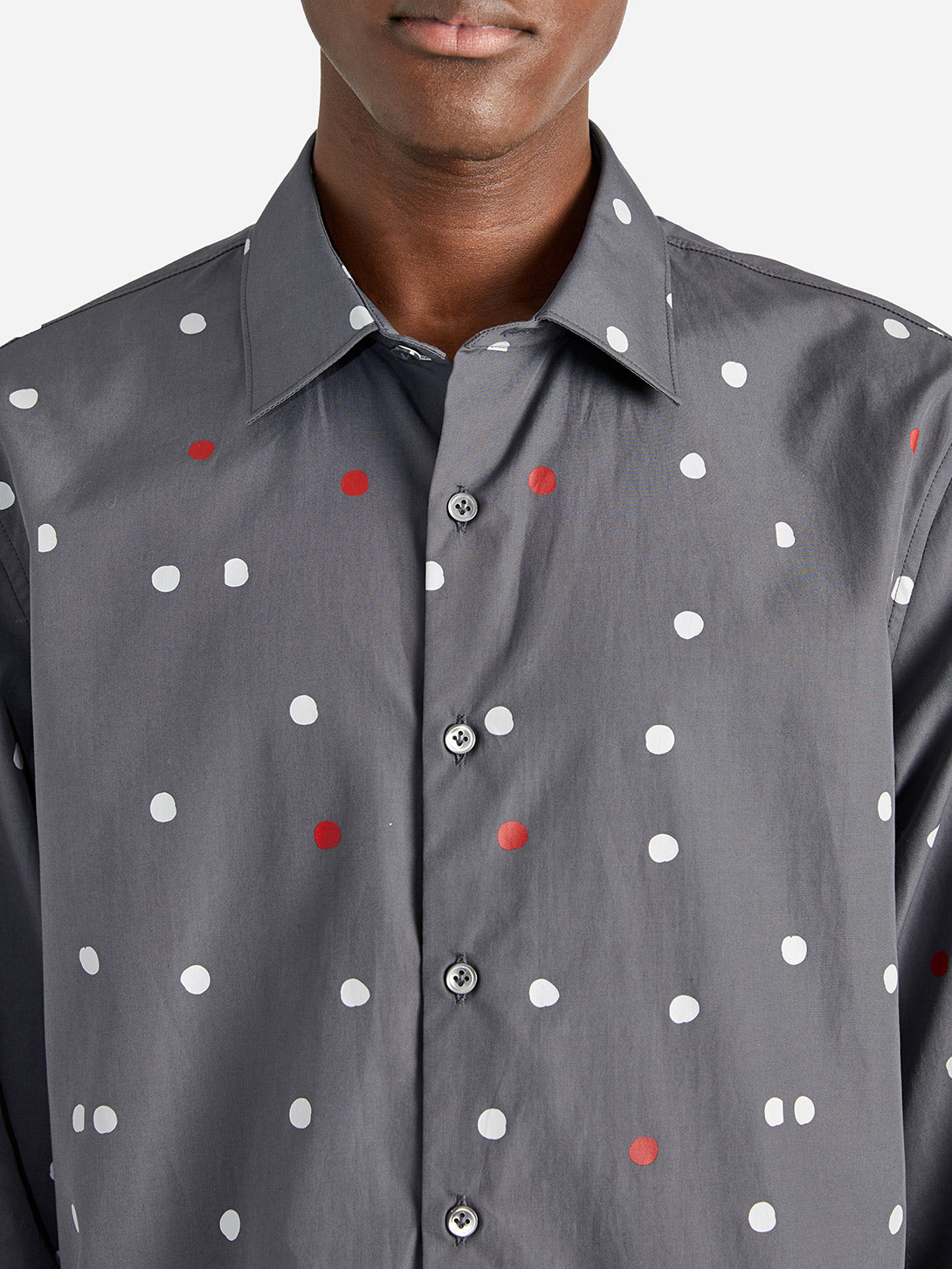ISSA DRESS SHIRT GREY DOT - ONS Clothing