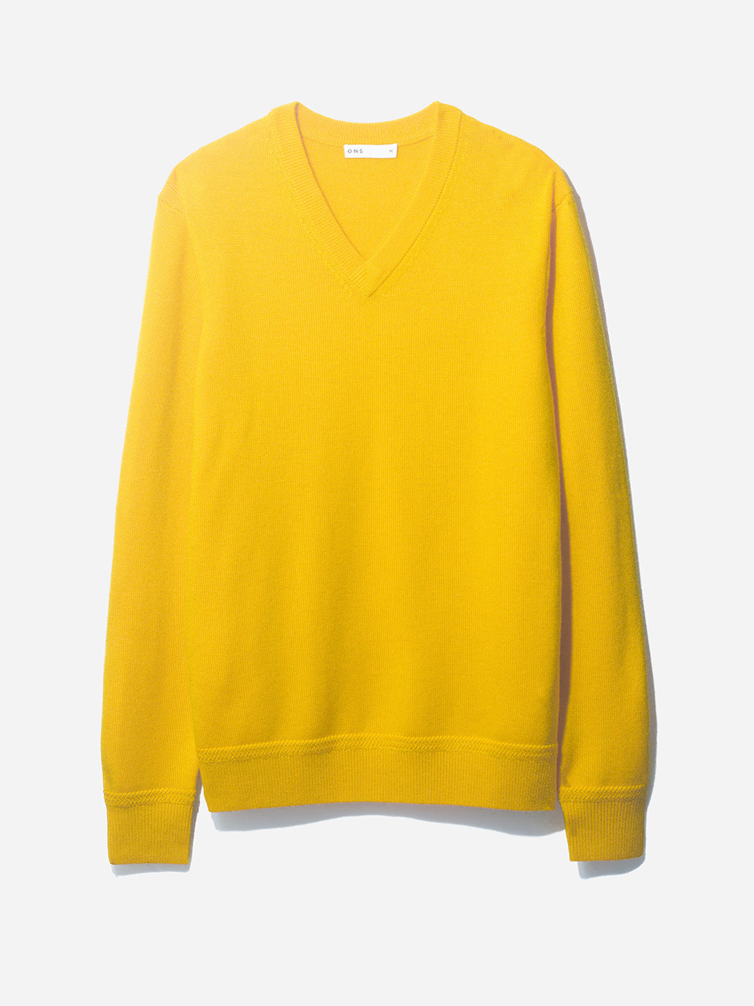 V NECK SWEATER GOLD