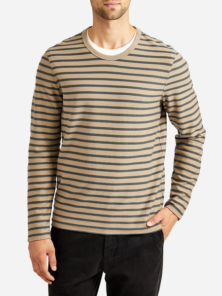 ons striped saxon crew SAND