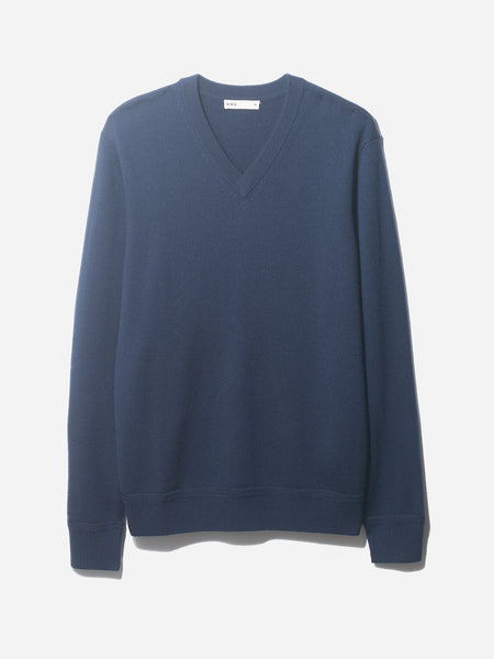 V NECK SWEATER NAVY