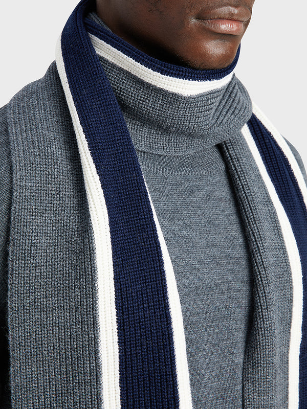 ONS Clothing Men's scarf in CHARCOAL H STRIPE black friday deals
