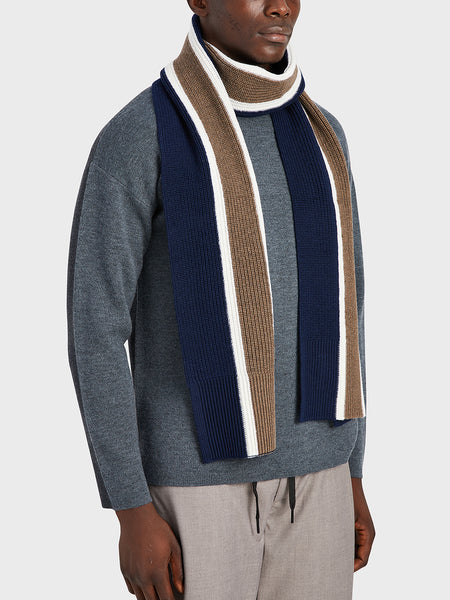 ONS Clothing Men's scarf in NAVY STRIPE black friday deals