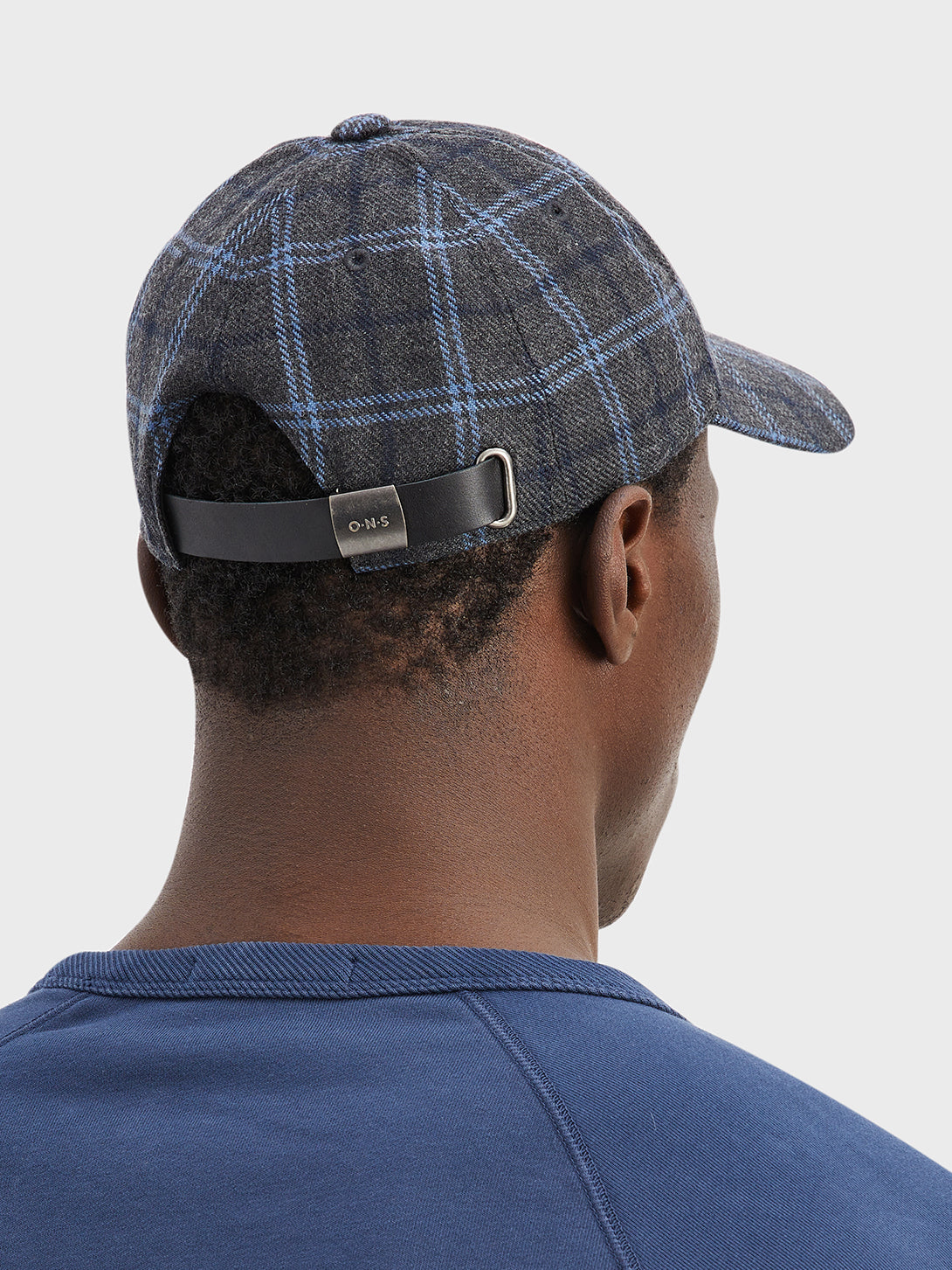black friday deals ONS Clothing Men's hat cap in DK. GREY CHECK DARREL CAP